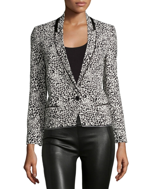 Leopard Jacquard Blazer by Zadig & Voltaire  in Designated Survivor - Season 1 Episode 3