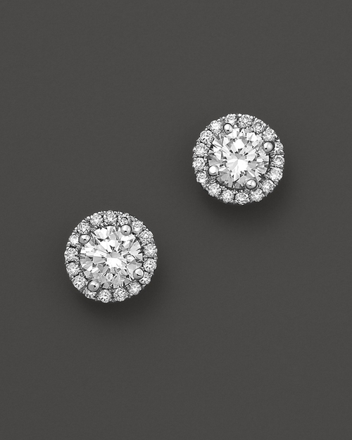Diamond Stud Earrings by Halo in Sex and the City