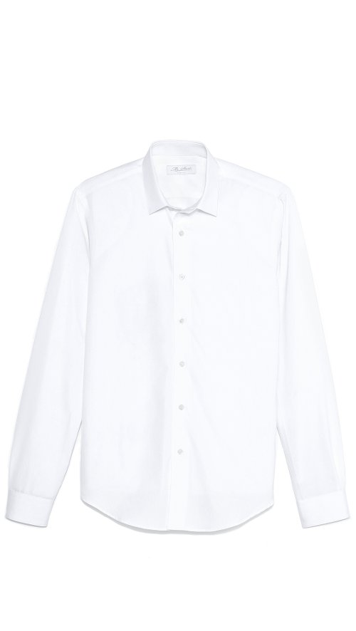 Square Collar Poplin Shirt by Mr. Start in The Gunman