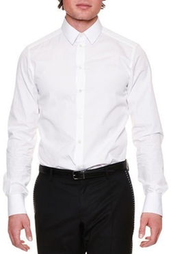 Long-Sleeve Woven Dress Shirt by Dolce & Gabbana in Ballers
