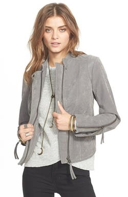 Faux Leather Jacket by Free People in Rosewood