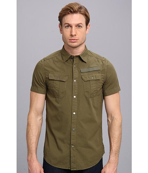Armoured Lawrence Poplin OD Shirt by G-Star in Yves Saint Laurent