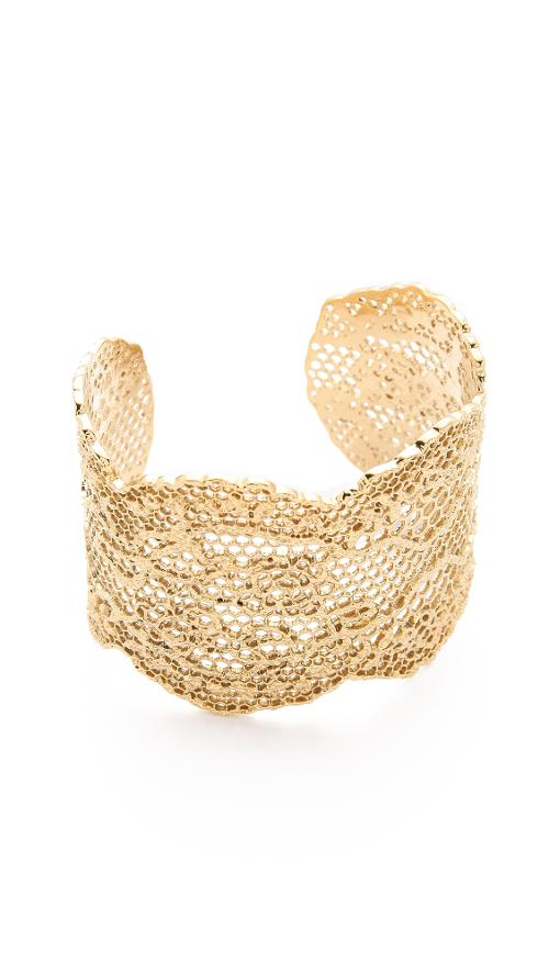 Laser Cut Vintage Lace Cuff by Aurelie Bidermann in What If