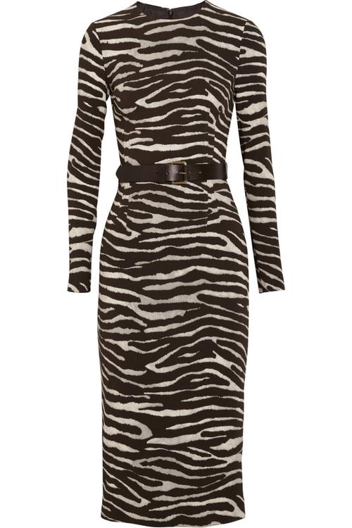 Zebra Print Dress by Michael Kors in Fuller House - Season 1 Episode 1
