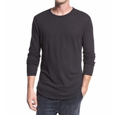 Raw-Hem Crewneck T-Shirt by Vince in The Ranch