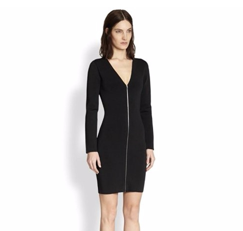 Zip Front Long-Sleeve Dress by Alexander Wang  in Suits - Season 6 Episode 10