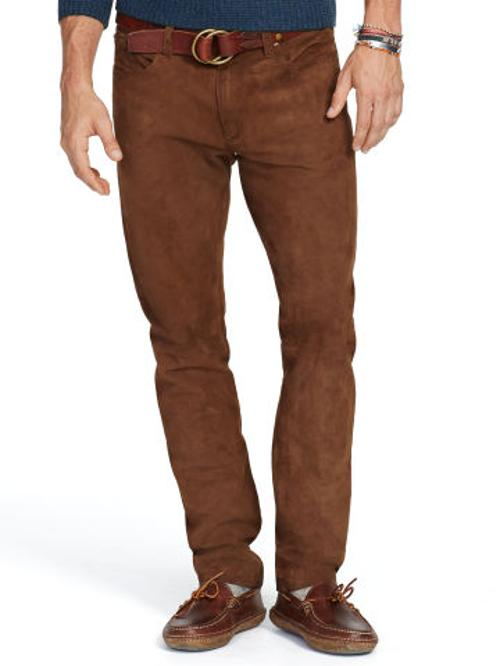 Slim Straight Suede Pant by Polo Ralph Lauren in X-Men: Days of Future Past