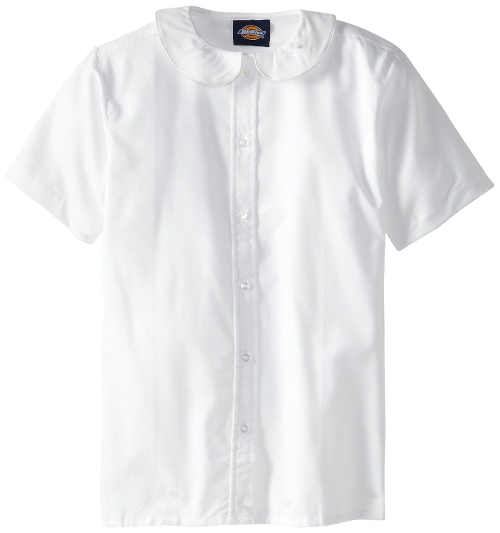 Short Sleeve Peter Pan Collar Blouse by Dickies in Self/Less