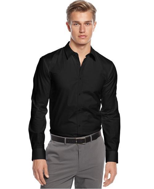 Shirt, Long Sleeve Core Elisha Shirt by HUGO in Walk of Shame