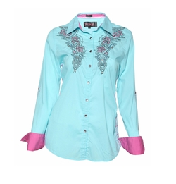 Snap Up Button Down Shirt by Roar in Love, Rosie