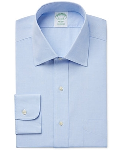 Milano Extra Slim-Fit Non-Iron Pinpoint Solid Dress Shirt by Brooks Brothers in Supergirl