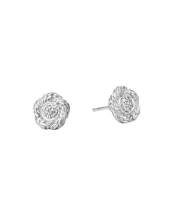 Classic Chain Small Diamond Stud Earrings by John Hardy in Secret in Their Eyes