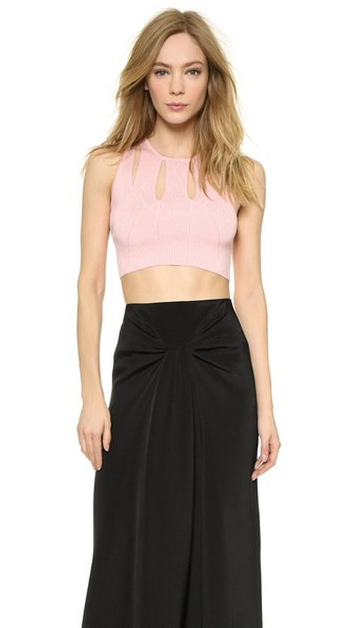 Knit Crop Top by Cushnie Et Ochs in Rosewood - Season 1 Episode 8
