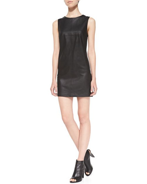 Tarala Seamed Leather Dress by Dakota Collective in Need for Speed