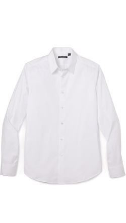 Sylvain Solid Dress Shirt by Theory in Silver Linings Playbook