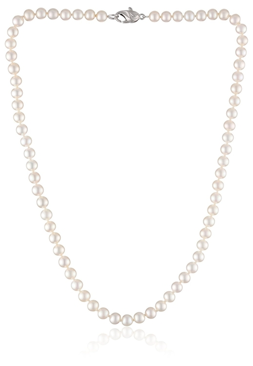 White Freshwater Cultured Pearl Necklace by Honora in Bridge of Spies