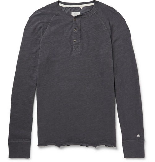 Jersey Henley T-Shirt by Rag & Bone in Sleeping with Other People
