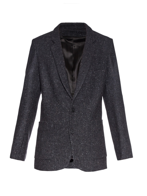 Longline Donegal-Tweed Blazer by Raey in The Good Wife - Season 7 Episode 14