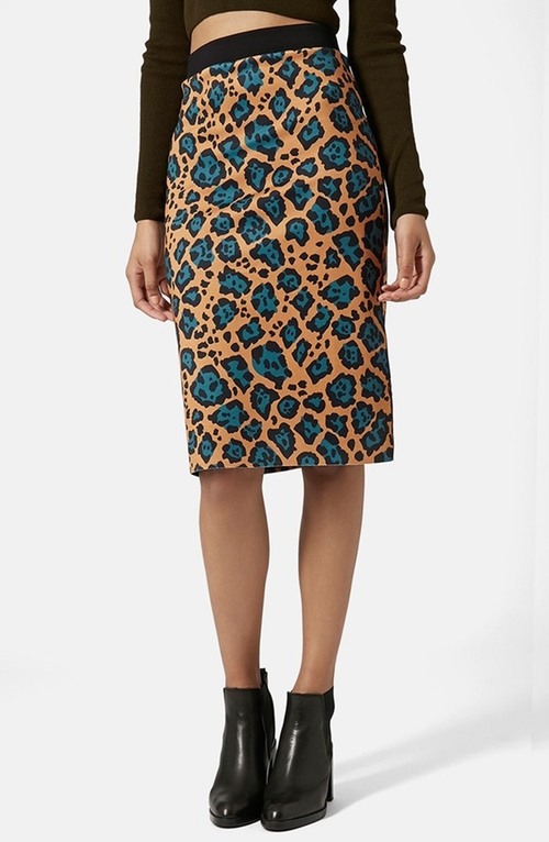 Leopard Print Tube Skirt by Topshop in Pretty Little Liars - Season 6 Episode 11