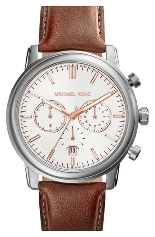 'Pennant' Chronograph Leather Strap Watch by MICHAEL Michael Kors in The Hangover