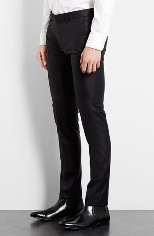 Ultra Skinny Black Suit Trousers by Topman in Southpaw