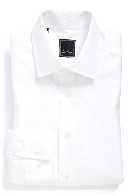 Regular Fit Solid Dress Shirt by David Donahue in Unfinished Business