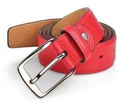 Calfskin Leather Belt by Isaia in Ashby