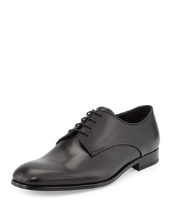 Rubber-Bottom Dress Oxford Shoes by Giorgio Armani in Our Brand Is Crisis