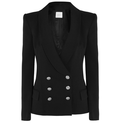 Double-Breasted Crepe Blazer by Pierre Balmain in Keeping Up With The Kardashians - Season 12 Episode 5