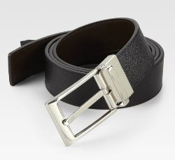 Reversible Grain Leather Belt by Bally in The Age of Adaline