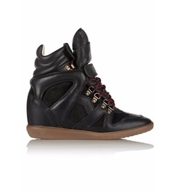 Buck Leather & Suede Wedge Sneakers by ÉToile Isabel Marant in Pretty Little Liars