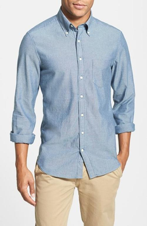 Yale Archive Regular Fit Soft Oxford Sport Shirt by Gant in Neighbors