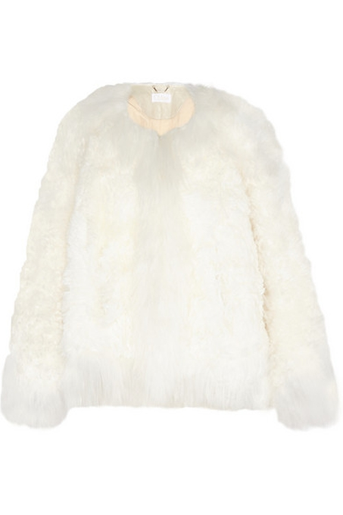Oversized Shearling Jacket by Chloé in Scream Queens - Season 1 Episode 1