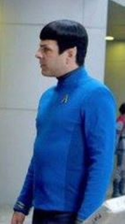 Custom Made Commander Spock Tunic Uniform by Sanja Milkovic Hays (Costume Designer) in Star Trek Beyond