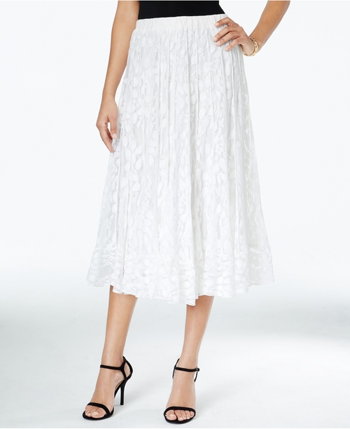 Lace Midi A-Line Skirt by MSK in Mamma Mia!