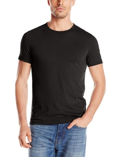 Crew-Neck Knit T-Shirt by John Varvatos in Underworld