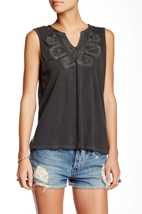 Embroidered Bib Tank Top by Lucky Brand in The Vampire Diaries - Season 7 Episode 3