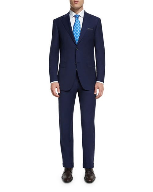 Sienna Contemporary-Fit Solid Two-Piece Travel Suit by Canali in Supernatural - Series Looks