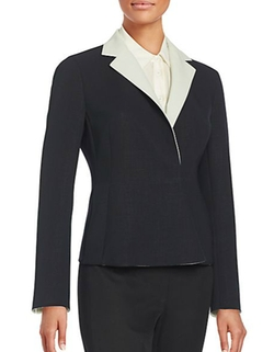 Beth Two-Tone Blazer by Akris in The Good Wife