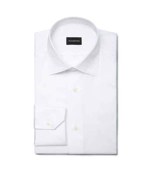 White Point Collar Shirt by Ermenegildo Zegna in Suits - Season 5 Episode 8