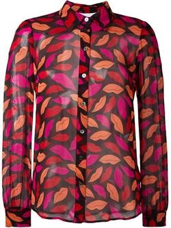Lips Printed Shirt by Diane Von Furstenberg in Elementary
