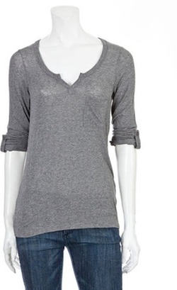Split Neck Pocket Henley Shirt by Splendid in The Twilight Saga: Breaking Dawn - Part 2