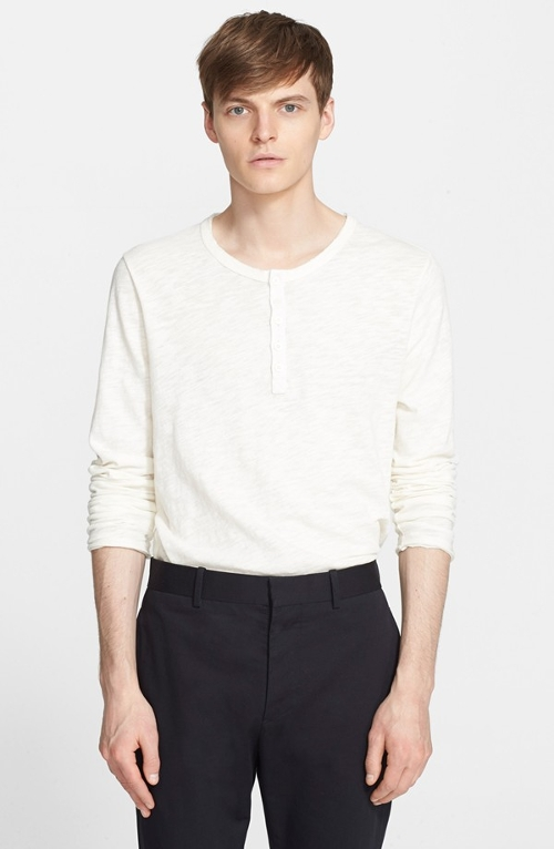 Raw Edge Henley Shirt by ATM Anthony Thomas Melillo in The D Train