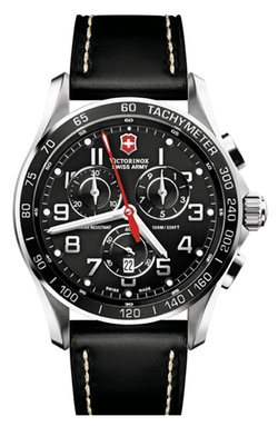 'Chrono Classic Leather Strap Watch by Victorinox Swiss Army in Knock Knock