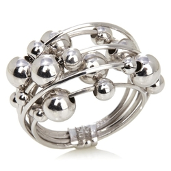 "Beaded ""Orbit"" Multi-Band Ring by Sevilla Silver in Sisters"