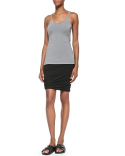 Scoop-Neck Cami Tank Top by T by Alexander Wang in Drive