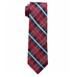 Red Plaid Group Tie by Tommy Hilfiger in New Girl