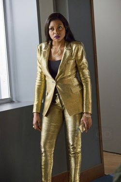 One Button Pant Suit by Versace in Empire