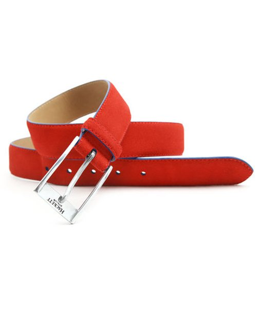 Contrast Red Suede Belt by Hackett in Pitch Perfect 2