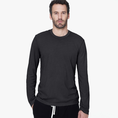 Long Sleeve Crew Neck Shirt by James Perse in Triple 9